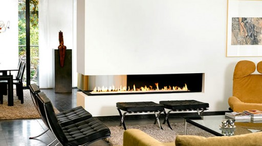 Fireplace A Stylish Solution To Seperate Space Home