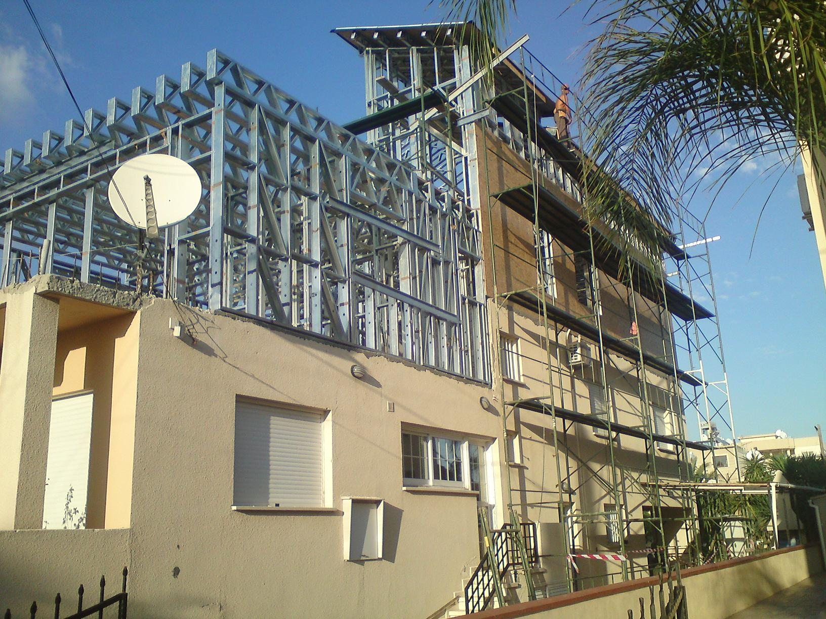 Steel frame homes cyprus build on top of your existing house Steel frame homes